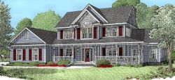 Country Style Floor Plans Plan: 13-124