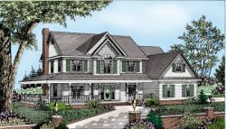 Country Style Home Design Plan: 13-125