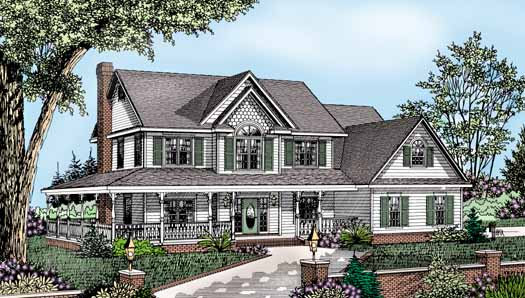 Country Style Floor Plans Plan: 13-126