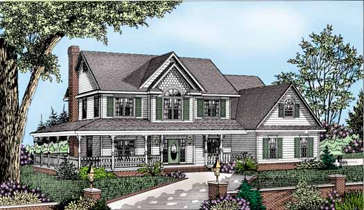 Country Style Floor Plans Plan: 13-128