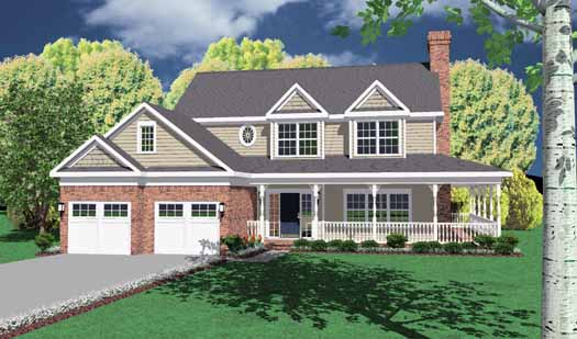 Country Style Floor Plans Plan: 13-129