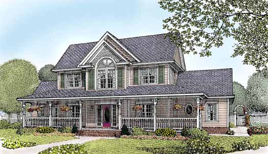 Farm Style Home Design Plan: 13-130