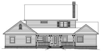 Rear Elevation Plan: 13-130