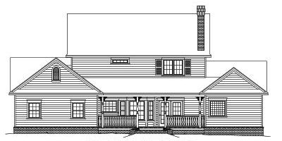 Rear Elevation Plan: 13-131