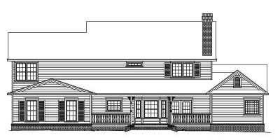 Rear Elevation Plan: 13-134