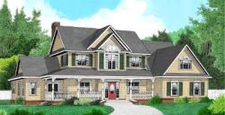Country Style Home Design Plan: 13-135