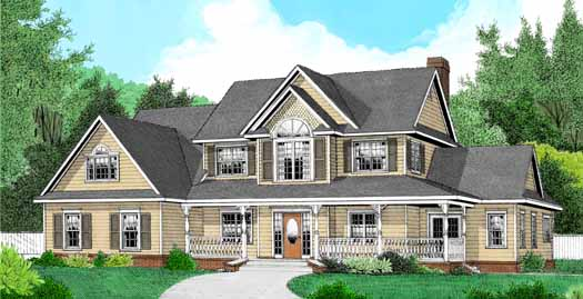 Country Style Floor Plans Plan: 13-136