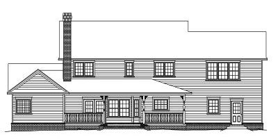 Rear Elevation Plan: 13-136