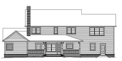 Rear Elevation Plan: 13-137