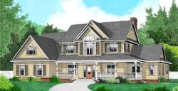 Country Style Home Design Plan: 13-137