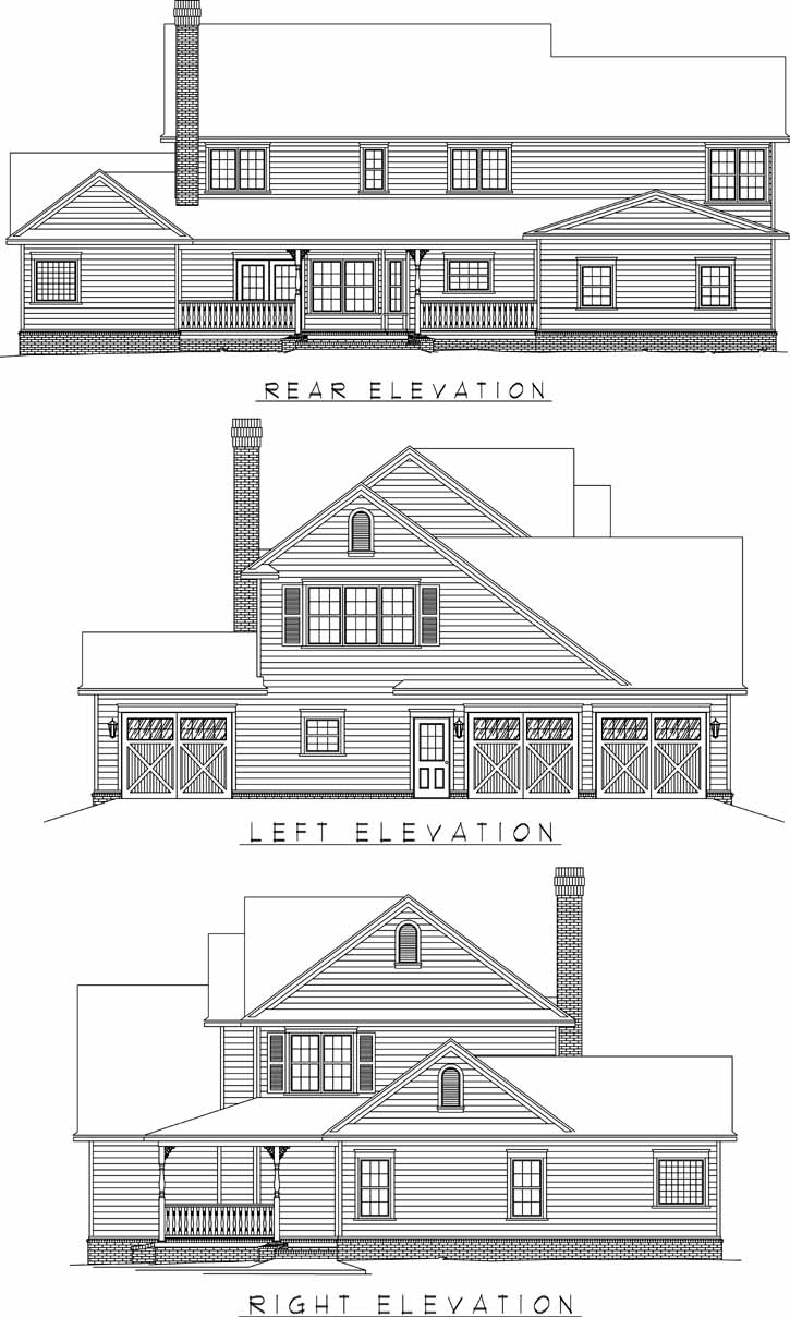 Rear Elevation Plan: 13-139