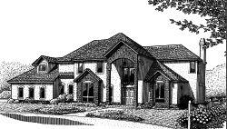 European Style House Plans Plan: 13-140