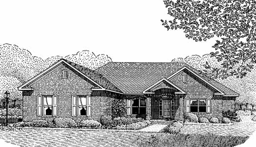 Traditional Style Home Design Plan: 13-141