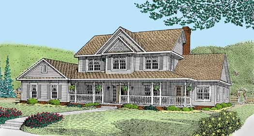 Country Style Floor Plans Plan: 13-143
