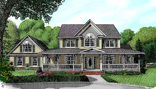 Country Style Floor Plans Plan: 13-144