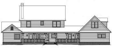 Rear Elevation Plan: 13-144