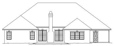 Rear Elevation Plan: 13-145