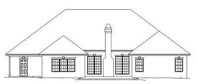 Rear Elevation Plan: 13-146