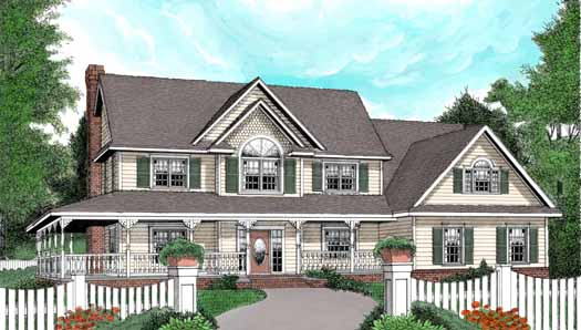 Country Style Floor Plans Plan: 13-148