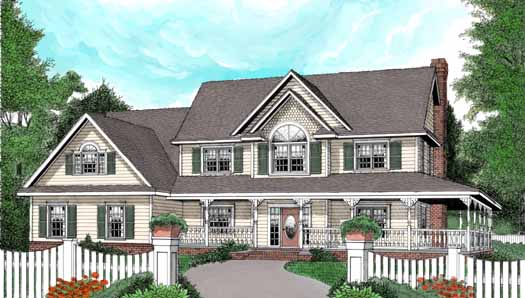 Country Style House Plans Plan: 13-150
