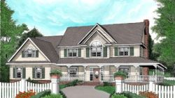 Country Style Floor Plans Plan: 13-150