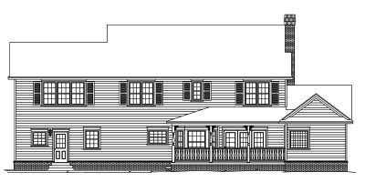 Rear Elevation Plan: 13-151