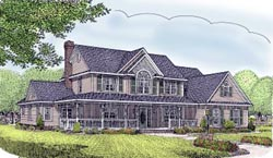 Country Style Floor Plans Plan: 13-151