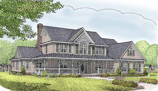 Country Style Home Design Plan: 13-152