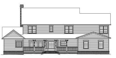 Rear Elevation Plan: 13-153