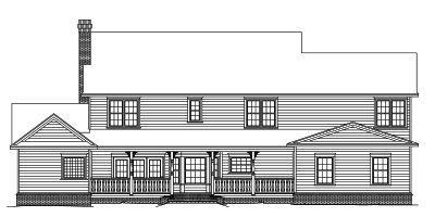 Rear Elevation Plan: 13-154