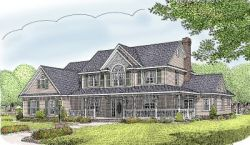 Country Style Floor Plans Plan: 13-154