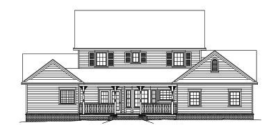 Rear Elevation Plan: 13-155