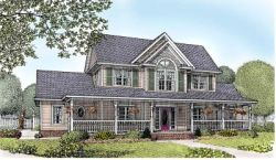Country Style Home Design Plan: 13-155
