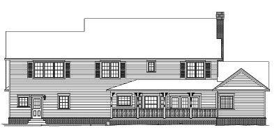 Rear Elevation Plan: 13-157