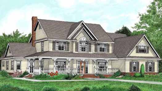 Country Style House Plans Plan: 13-158