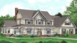 Country Style Home Design Plan: 13-158