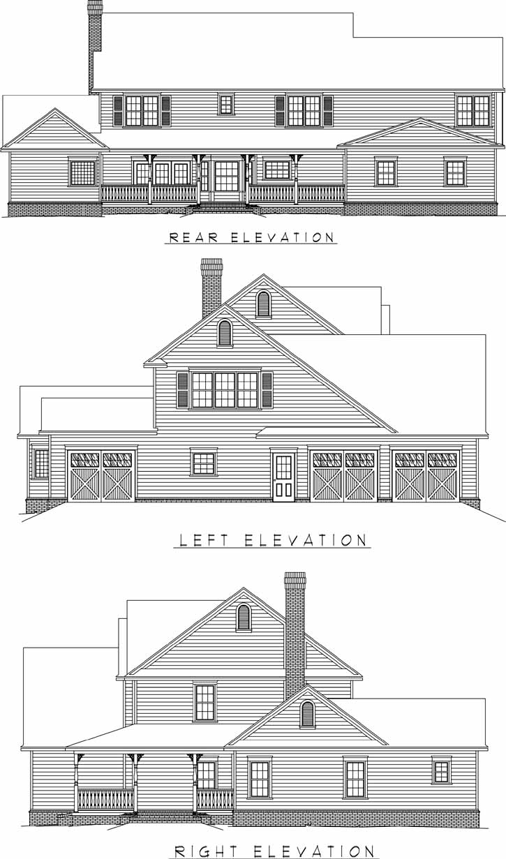 Rear Elevation Plan: 13-159