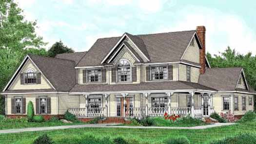 Country Style Home Design Plan: 13-160
