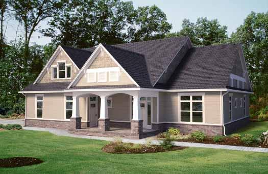 Craftsman Style Floor Plans Plan: 13-161