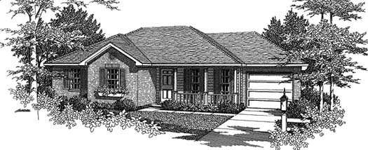 Traditional Style Home Design Plan: 14-102