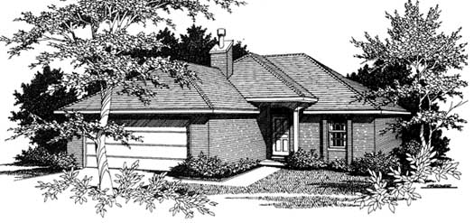 Traditional Style House Plans Plan: 14-104