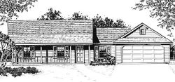 Country Style Floor Plans Plan: 14-105