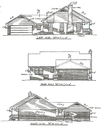 Rear Elevation Plan: 14-108