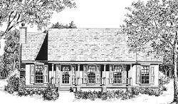 Country Style Floor Plans Plan: 14-108