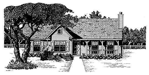 Country Style Home Design Plan: 14-109