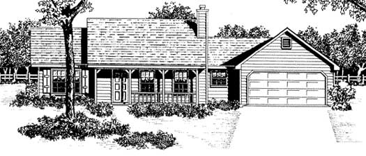 Country Style House Plans Plan: 14-110