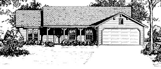 Country Style Floor Plans Plan: 14-111