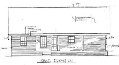 Rear Elevation Plan: 14-114
