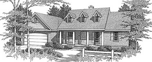 Farm Style Home Design Plan: 14-115