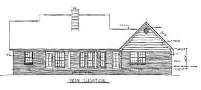 Rear Elevation Plan: 14-115